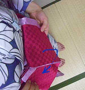 半巾帯の結び方【貝の口結び】7