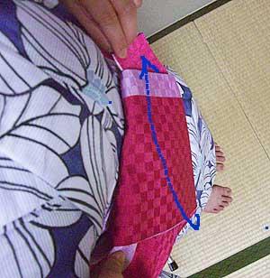 半巾帯の結び方【貝の口結び】9