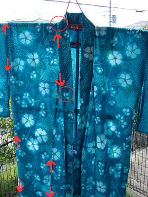 浴衣を自分でお洗濯(2a) 〜糊づけなしの場合の洗い方〜10