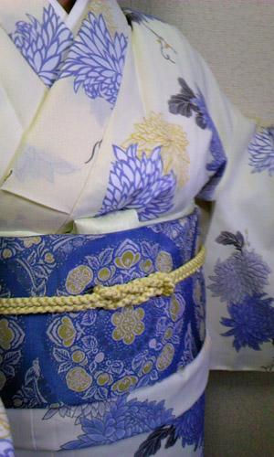 【枠 〜waku〜】で京袋帯をお求め下さいました☆(Y・K様1)
