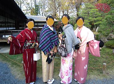 ご友人の皆さまは、京都駅近くの「京都きものステーション」の着物レンタルをされたそうです☆