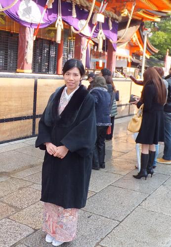 八坂神社へ初詣(2012年)