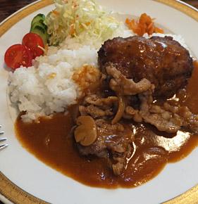 奈良まちの『洋食 春』さんで、ハンバーグランチ♪