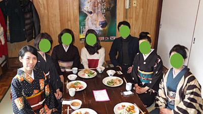 奈良きもの日和実行委員会の、2012年1月会合。集合写真。