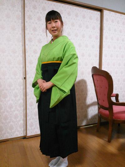 袴の着付け練習(モデルはOさん♪)