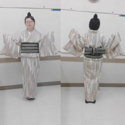単衣着物+半幅帯で♪(Y・M様)