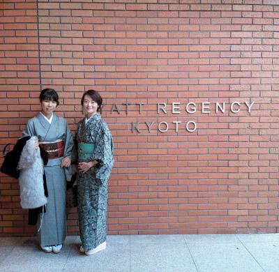 ハイアットリージェンシー京都で着物ランチ(1)