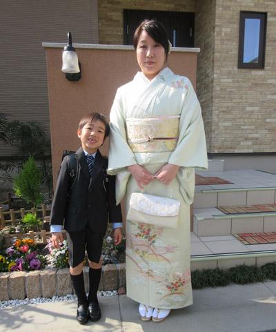 お子様の入学式に訪問着で出席されました☆