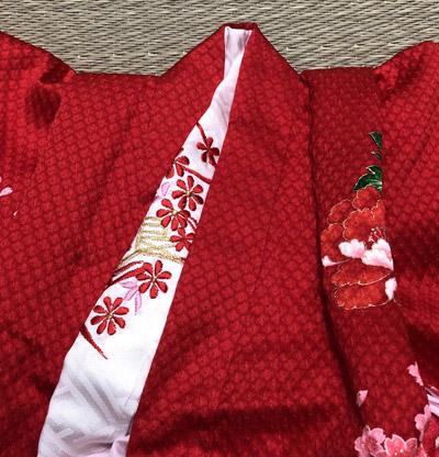 七五三 刺繍の半襟 縫い方