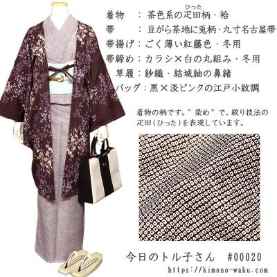 着物のコーディネイト 冬のコーデ 長羽織