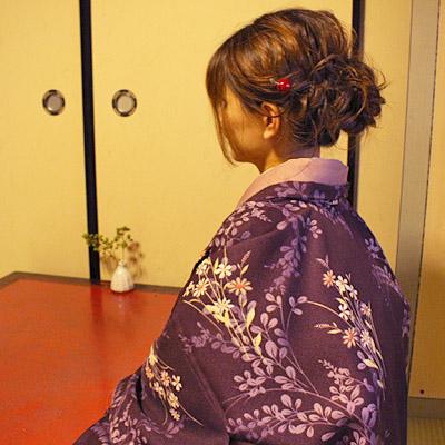 着物でカフェタイム♪ 洗える羽織で。5,000円!