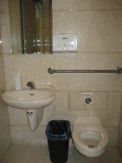 世界一高いところにあるトイレ内部