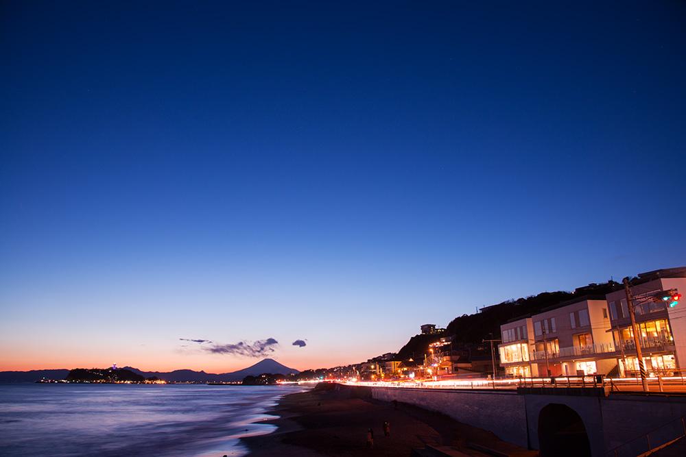 七里ガ浜の夜景