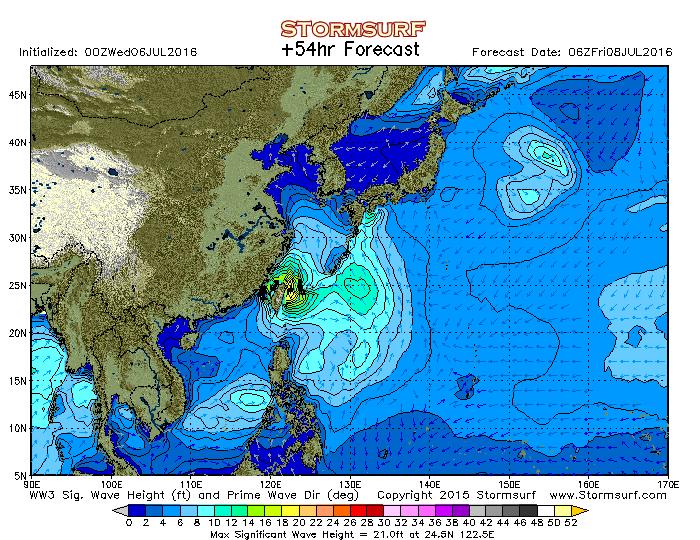 2016年7月8日6時の波浪予想図