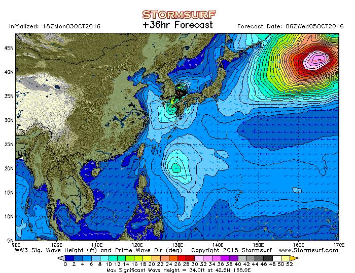2016年8月26日6時の波浪予想図