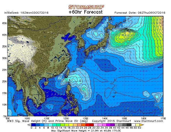 2016年8月28日6時の波浪予想図