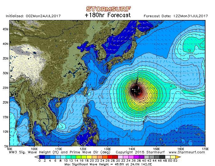 2017年7月31日12時の波浪予想図