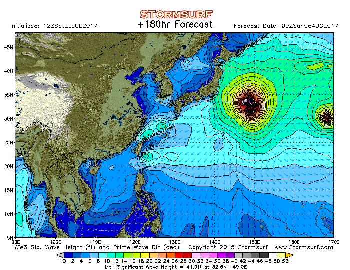 2017年8月6日12時の波浪予想図