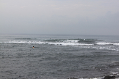 来た時の海の様子