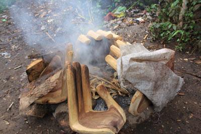 木の手のオーブン