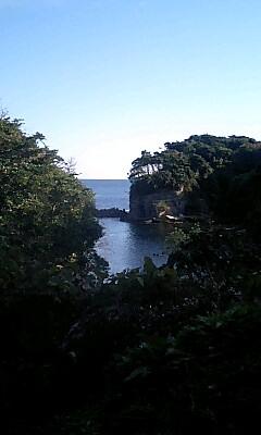 鵜原理想郷の途中の入り江