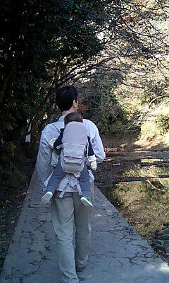 おんぶして散歩