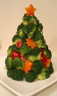 サラダのツリー