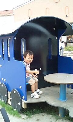 動かない汽車