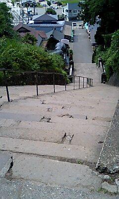 飯盛山の階段