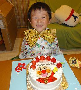 4才のバースデーケーキ