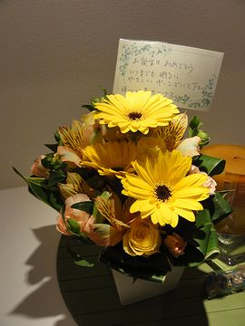 お誕生日にお花
