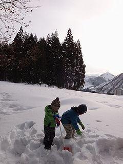 雪遊びスタート