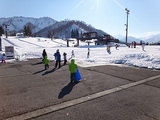 中里スキー場へ