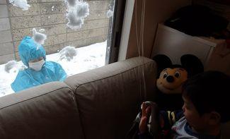 がまんの雪遊び