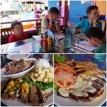 ハワイ島最初の食事