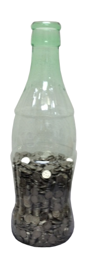 コーラ 貯金 箱