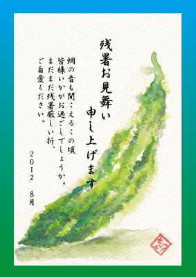 2012.8.残暑見舞い(ゴーヤ)