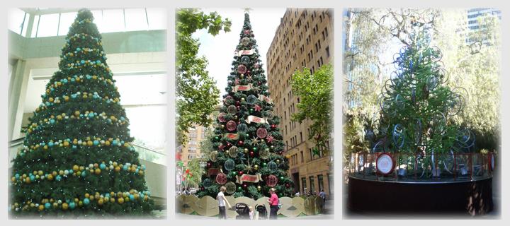 街中のクリスマスツリー