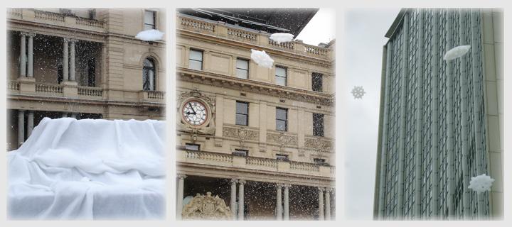 シドニーの雪?