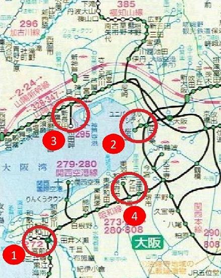 大阪鉄道地図