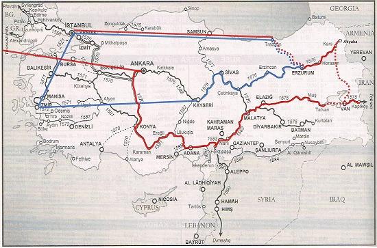 トルコの行程