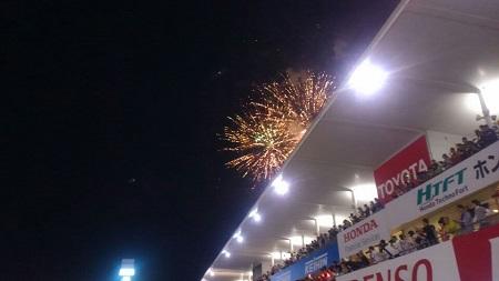 ゴール後の花火