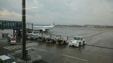 帰りの飛行機