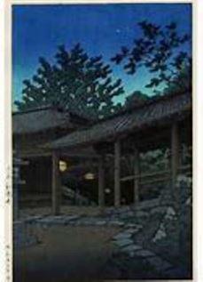 川瀬巴水の大和寺の寺
