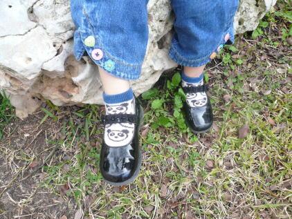 エナメル靴!