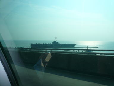 橋から見た空母