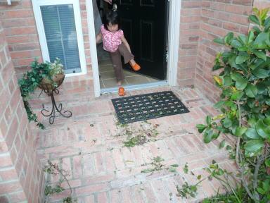 玄関の散らかり具合