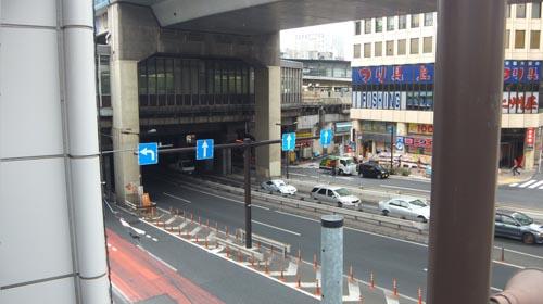 246号線 shibuya station 陸橋