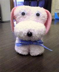 おしぼり製の犬