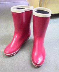 ピンク長靴